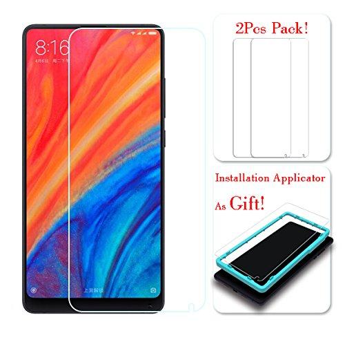 [SET 2 PEÇAS] Xiaomi Mi Mix 2S protetor de tela, ** com aplicador grátis sem bolhas ** Ibywind vidro temperado película protetora [Anti-impressão digital] para Xiaomi Mi Mix 2S - transparente