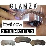 glamza Multi Pack Cejas Stencil Kit 3diseño de estilo de Delineador...