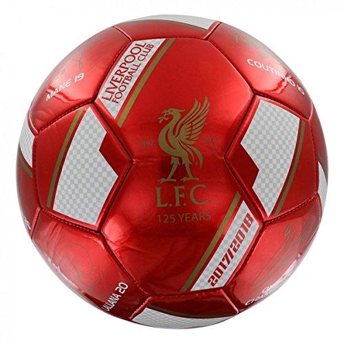 FC Liverpool Unterschriften Ball (5, rot) (Liverpool-fußball-ball)