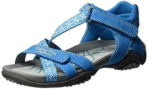 Superfit Nancy 000161 Mädchen Sandalen, Blau (Türkis), 36 EU