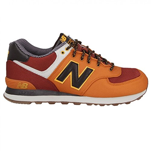 New Balance Orange Multi Youths 574 Weekend Expedition Mesh Trainers