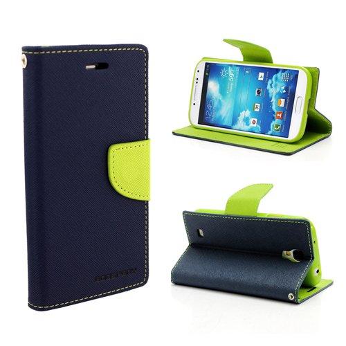 Cubezap Mercury Goospery Diary Wallet Flip Case Back Cover for Samsung Galaxy S4 IV i9500 - Green Blue
