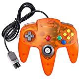 suily Classic N64 Controller Wired Game Controller Retro Joystick für N64 Konsole N64 Gamepad (Clear Orange)