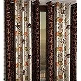 Honey Traders 1 Piece Eyelet Polyster Door Curtain - 7ft, Brown