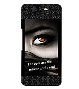 Fuson 3D Printed Quotes Designer back case cover for Micromax Canvas Knight A350 - D4132