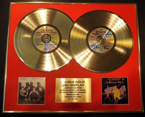 QUEEN/double CD Disco de Oro & Foto Display/Edicion LTD/Certificato di autenticità/THE WORKS & A KIND...