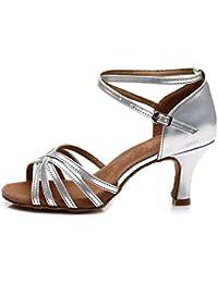 afa93478f YKXLM Mujeres&Niña Zapatos Latinos de Baile Zapatillas de Baile de Salón  Salsa Tango Performance Calzado de