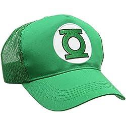 Gorra Linterna Verde - Logotipo - DC Comics - Visera Green Lantern - Logo - Bordado - Gorra original de la marca LOGOSHIRT - Verde - Diseño original con licencia