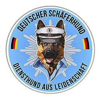 Auto Aufkleber POLIZEI DEUTSCHER SCHÄFERHUND SHEPHERD HUND K9 reflex Hundeaufkleber Siviwonder