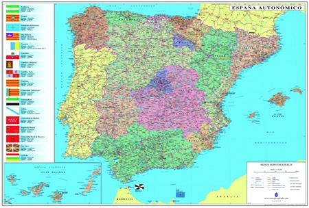 Mapa plastificado España Portugal Mapas tubo plastificados