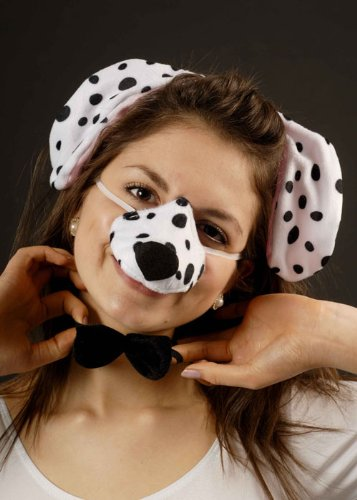 Dress Fancy Dalmation Kostüm - Struts Fancy Dress Dalmation Zubehör Kostüm Set