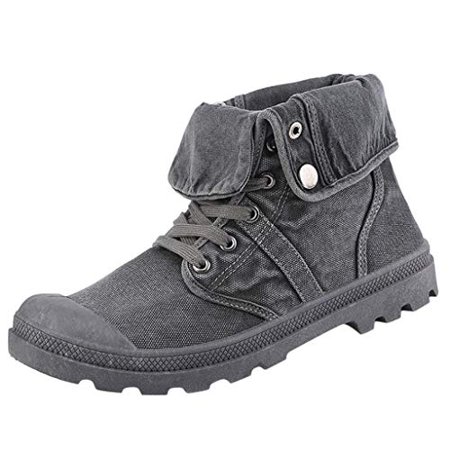 FeiBeauty Herren Pallabrousse Baggy Hohe Sneaker Segeltuchschuhe Wanderstiefel Combat Boots,Trekkingstiefel Sneaker Outdoor Camping Wandern Bergsteigen Wüsten Offroad - Jungen 6 Boots Größe Timberland