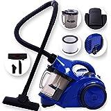 Kesser® Staubsauger Bodenstaubsauger Beutellos ✓ Hepa Filter ✓ Zyklonstaubsauger✓ 1600 Watt  Allergikerfreundlich   mit Zubehör   handlich, Farbe: Blau / Schwarz