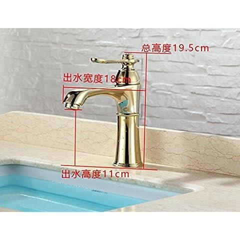 jylw tutti rame, miscelato con acqua calda e fredda, tutti rame rubinetto, Rubinetti per lavabo, Rubinetto Retrò lusso rubinetto H