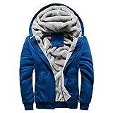 BaZhaHei Uomo Top,Uomo Giacca Capelli Cappuccio Imbottita Maniche Lunghe Giacca Giubbotto Hoodie Jacket Outwear Coat Sweater