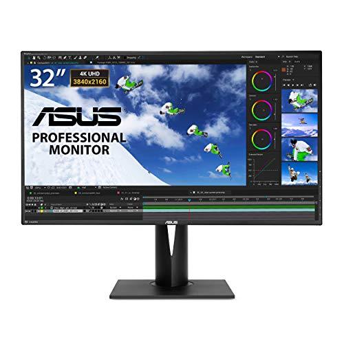 Asus PA328Q Monitor 32'', 4K (3840 x 2160), IPS, 100% sRGB, △E< 2, Flicker Free, Low Blue Light, TUV Certified