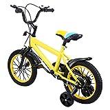 MuGuang 14 Pouces Vélo Enfant Étude d'apprentissage équitation vélo garçons Filles vélo avec stabilisateurs Vélo avec Bell pour Enfant de 3 à 8 Ans Children bike(jaune)