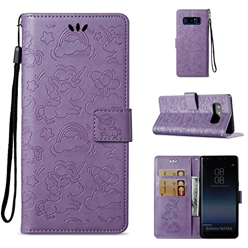 f4cc1e231f7 Bear Village Funda Cuero Galaxy Note 8, [Garantía de por Vida] Funda  Billetera