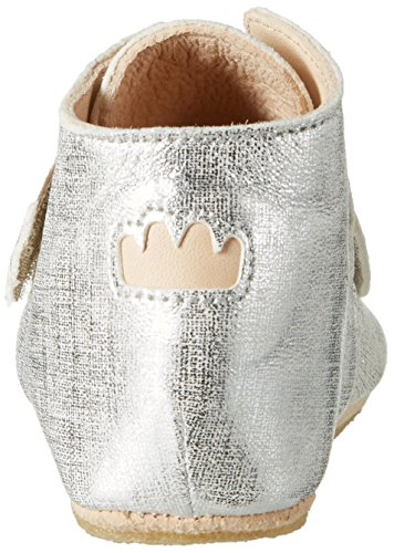 Easy Peasy Kiny Teddy, Chaussons pour enfant mixte bébé Silber (blanc filament argent)
