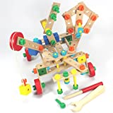 KONSTRUKTIONSSET TECHNIK BAUSTEINE 135 Teile 3-7 Jahre Holzbausteine Konstruktionsbausteine Holz ~yx
