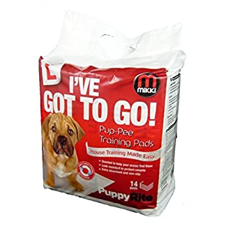 Mikki Dog and Puppy Pup-pee Training Pads for Wee wee House Toilet Training - Super Absorbent 7 Pack 7