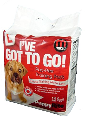 Mikki Dog and Puppy Pup-pee Training Pads for Wee wee House Toilet Training – Super Absorbent 7 Pack