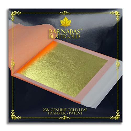 Barnabas Echtes Blattgold Transfer 23 Karat, 85 X 85mm, 25 Blätter in Blattsammlung
