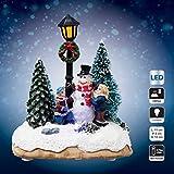 Villaggio di Natale luminoso Personaggi di Natale