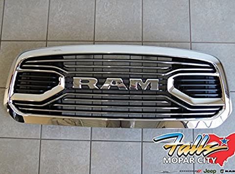 2015-2016 Dodge Ram 1500 Chrome Laramie Limited Front Grille Mopar OEM by Mopar
