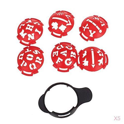 Preisvergleich Produktbild 5 Set Golf Ball Ballmarkierer Line Marker Templates anderes Muster Zeichnung Linienlaser DIY