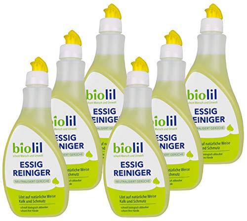 biolil Bio Essig Reiniger neutralisiert Gerüche 6 x 500 ml