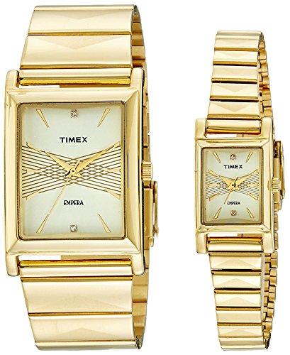 51cJ3Mo1xoL - Timex TI00PR17400 Empera Beige Set watch