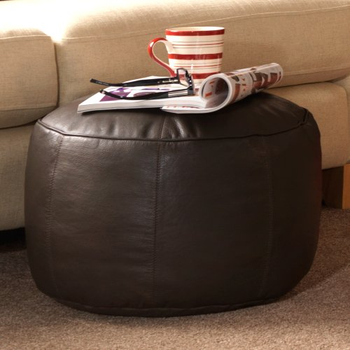 Bean Bag Bazaar Luxus Echt Leder Fußhocker – ICON Designer Sitzsack Fuß Hocker – Fuß Rest...
