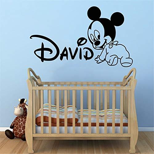 DIY nette Mickey Mouse baby wandaufkleber für kinderzimmer dekoration wandaufkleber Wandbild 40x58 cm xutongrui