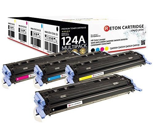 4 Original Reton Toner, kompatibel, nach (ISO-Norm 19798) ersetzt Q6000A Q6001A Q6002A Q6003A HP 124A HP Color Laserjet 1600 2600N 2600DN 2605DTN HP Color Laserjet CM1015 CM1015MFP CM1017 CM1017MFP -