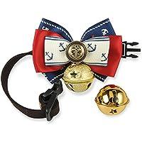 Multiple Colorati Collari per Cuccioli di cane o gatto, Marina Stile Collare Regolabile con bel Campana ( 15 - 50cm ) (Marina Stile 3, S)