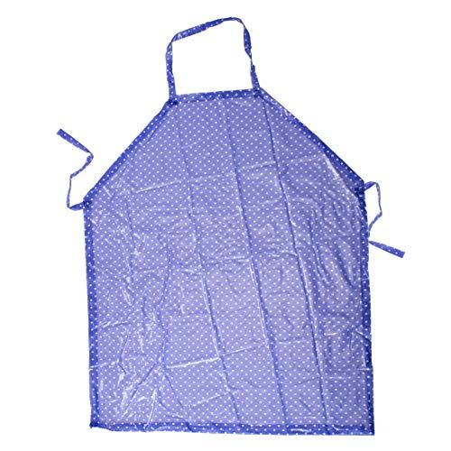 Trixes volle Schürze - zum Haushalt Reinigung malen basteln Kochen Backen - PVC beschichtet - Blaue Polkadot