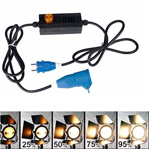 HWAMART ® 2000W dimmer Fresnel tungsteno Video luce continua illuminazione Spot dimmer