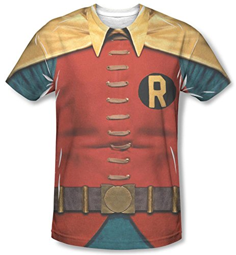Mens BATMAN CLASSIC TV Short Sleeve ROBIN COSTUME XXLarge T-Shirt Tee