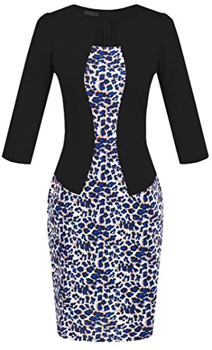 u-shot da donna patchwork Slim Fit elegante Business cocktail party Wiggle Bodycon Dress Style 4