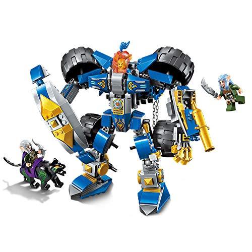 e Serie 2 in 1 zusammengebaute Bausteine   Ritter Mech Kinderpuzzle kleine Partikel zusammengesetzt Spielzeug Geburtstagsgeschenke ()