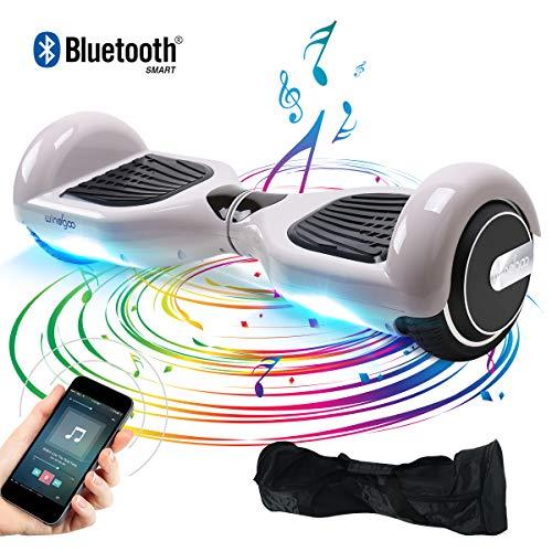 "BEBK Hoverboard, 6.5"" Elektro Scooter mit APP Funktion, Bluetooth Lautsprecher, 700W Motor, LED, Self-Balance E-Skateboard (Purple)"