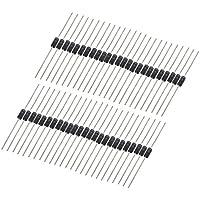 sourcing map 50pcs Diodos rectificadores de conmutación muy rápida cables axiales 1polarizado