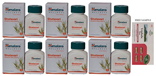 "Himalaya Shatavari – 60 Tablets – Pack of 6 – ""DHL Expedited Delivery"" with Free Product Sample"