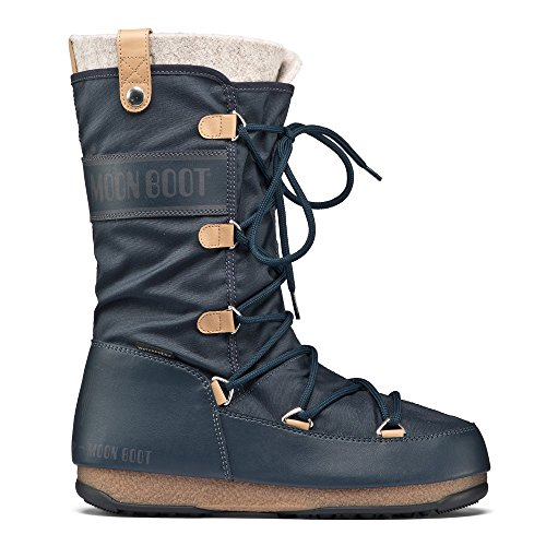 Original Tecnica Moonboot W.E. MONACO FELT denim blue Größe EU 39