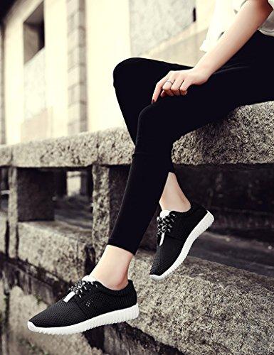 Donne Donna Piani Delle Sportivo 35 colore Studenti Traspirante Maglia Da Donna Nero Esecuzione Scarpe Estate Bianco In Casuale Asc Taglia x7IO6qw