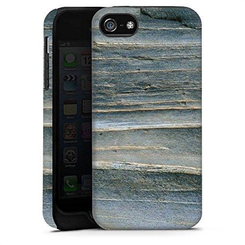 Apple iPhone X Silikon Hülle Case Schutzhülle Grauer Sandstein Fels Stein Tough Case matt