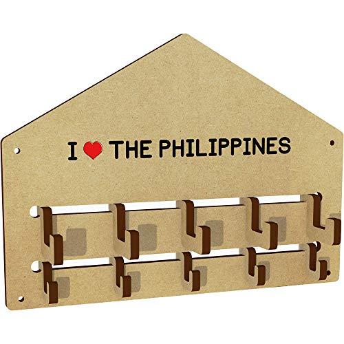 'I Love The Philippines' An der Wand befestigter Kleiderhaken / Gestell (WH00001037) - Philippinen Mantel