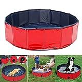 Eribell7 PVC-Schwimmbecken für Haustiere, tragbar, faltbar, für Hunde, Katzen, Bad, Badewanne, Wanne, Wasserteich, Pool