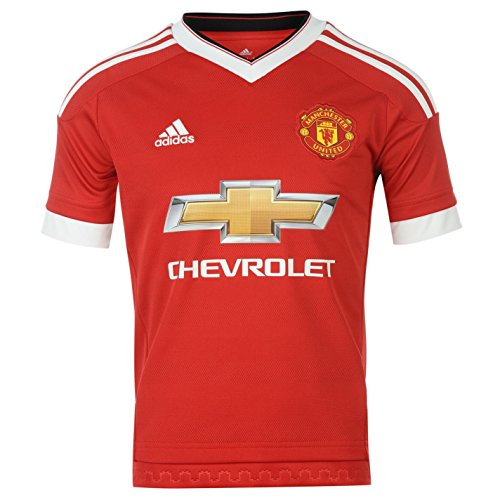 Adidas Manchester United FC Home Jersey 2015 2016 Juniors Red Football  Soccer 65ad0925a